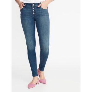 Old Navy Rockstar Super Skinny Button Fly Jeans 4
